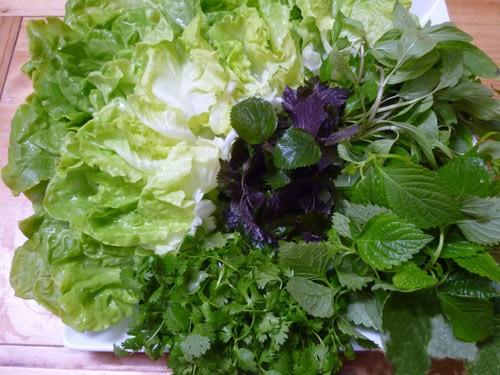 món ăn rau sống